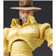 Super Figure JoJo's Bizarre Adventure Part 3 #17 Non Scale Pre-Painted PVC Figure: Joseph Joestar & Iggy (Hirohiko Araki Specify Color)