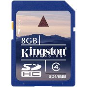 Kingston SD Card 8GB Class 4