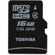 Toshiba Micro SD Card 16GB Class 4