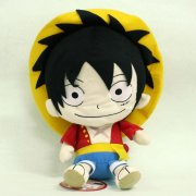 One Piece Plush Doll: Luffy Reversible Cushion