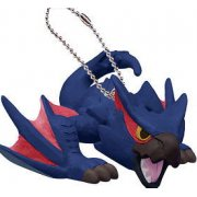 Monster Hunter - Airou Furifuri Pre-Painted PVC Keychain: Nargacuga