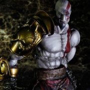 God of War III Play Arts Kai Non Scale Pre-Painted PVC Figure: Kratos