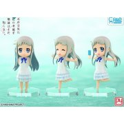 Anohana Non Scale Pre-Painted PVC Figure: Menma and friends at any time set (3 pieces)