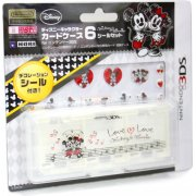 Disney Character Card Case 6 Seal Set for Nintendo 3DS (Mickey & Minnie)