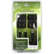 Venom Twin Rechargeable Battery Packs (Black)